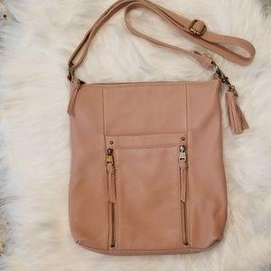 Blush leather crossbody bag by The Sak